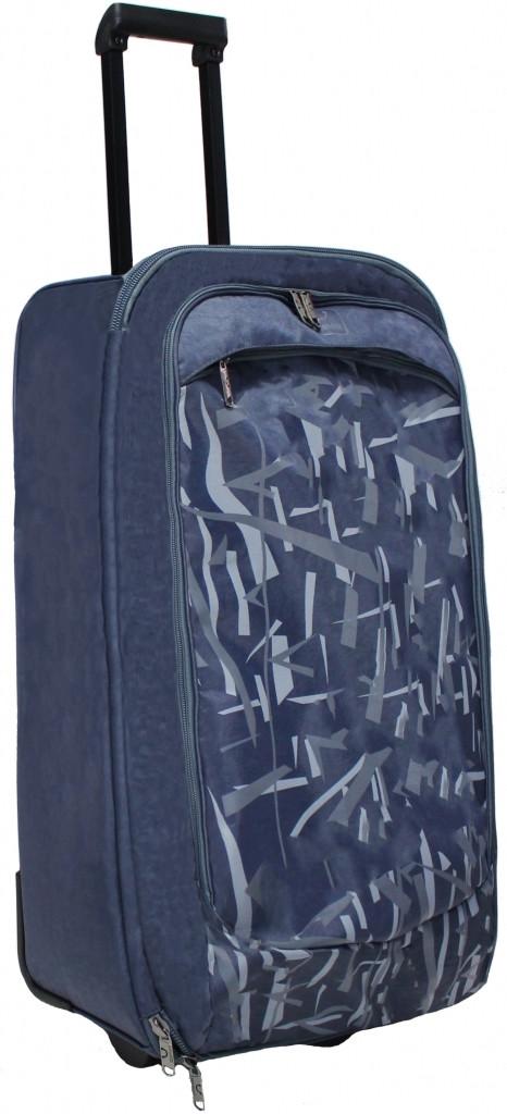 Большой чемодан Bagland Барселона 0039470-dark_grey, темно серый 85 л
