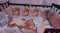 """Постельное белье в кроватку """"Мишутка"""", комплект постельного белья в кроватку, детское постельное белье"""
