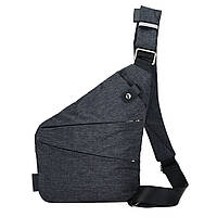 Сумка рюкзак через плечо мессенджер Cross Body Bags 6016 - ТЁМНО СЕРАЯ D1025