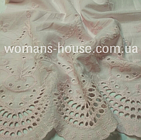 Батист вышивка нежно-розовый