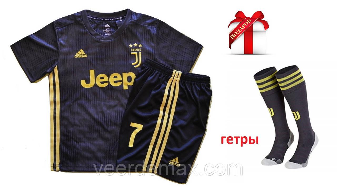 Футбольная форма Ювентус (FC Juventus) Роналдо  2018/19 детская + Гетры детские