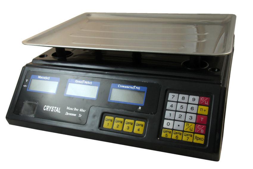 Весы торговые электронные CRYSTAL до 40 кг D10233