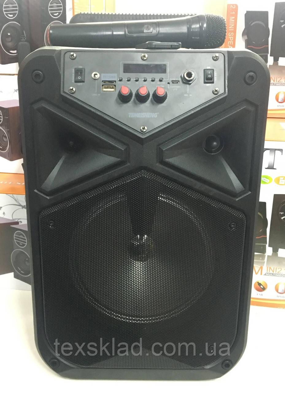 Акумуляторна колонка TMS-806 з радіомікрофоном / 80W (USB/FM/Bluetooth)