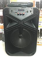 Акумуляторна колонка TMS-806 з радіомікрофоном / 80W (USB/FM/Bluetooth), фото 1