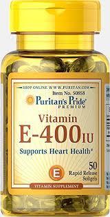 Вітамін Е, Puritans Pride Vitamin E 400 IU - 50 softgels