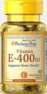 Вітамін Е, Puritans Pride Vitamin E 400 IU - 50 softgels, фото 2