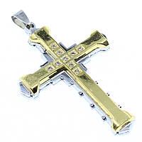"""Кулон в виде Креста из нержавеющей стали (Stainless Steel)  """"Тайлэр"""""""