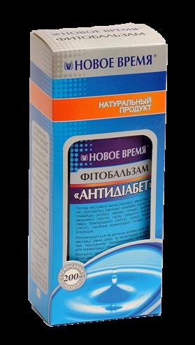 """Фитобальзам """"Антидиабет"""" Новое время, 200 мл"""