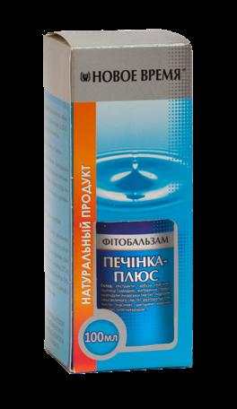 """Фитобальзам """"Печень-плюс"""" Новое время, 100 мл"""