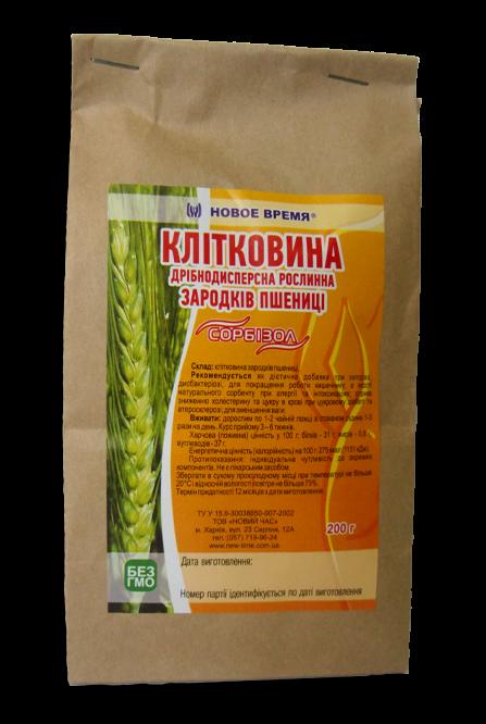 """Клетчатка зародышей пшеницы """"Сорбизол"""" Новое время, 200 г"""