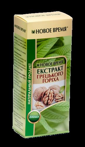 Экстракт грецкого ореха Новое время, 200 мл