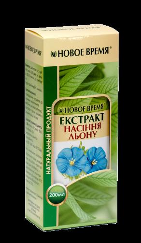 Экстракт семян льна Новое время, 200 мл