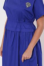 Платье ниже колена для полных Мелисса электрик, фото 3