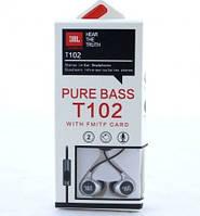 Наушники вакуумные с микрофоном JBL T102 , фото 1