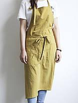 Японский краткий твердый цвет льняного хлопка Винтаж Pinafore Платье - 1TopShop, фото 3