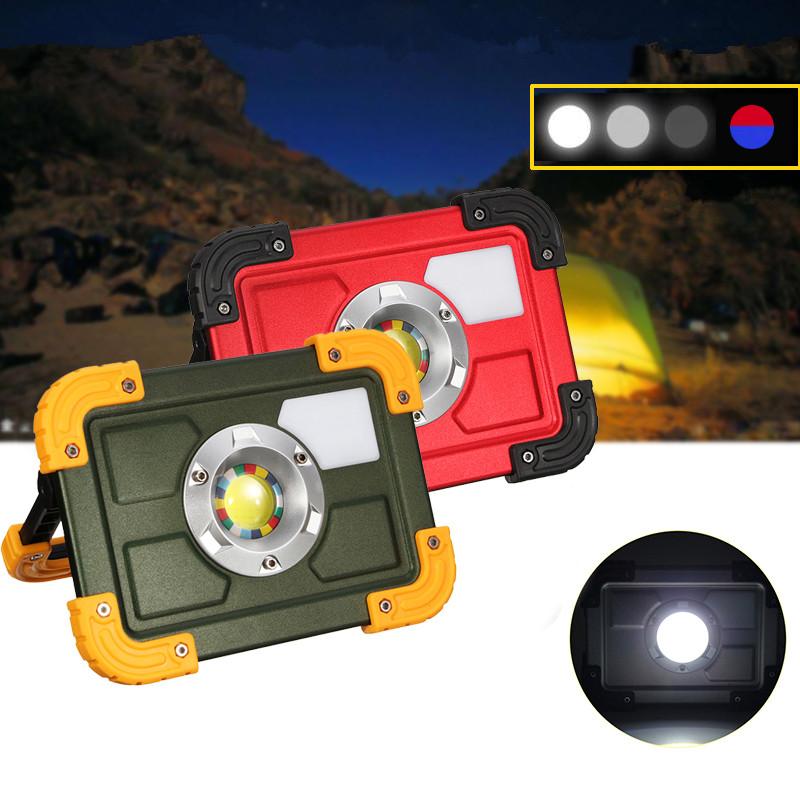 30WCOB4РежимLEDПортативный USB аккумуляторная наводнение Spot Hiking Кемпинг На открытом воздухе Работа Лампа - 1TopShop