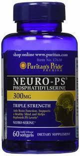 Фосфатидилсерин, Neuro-PS (Phosphatidylserine) 300 mg, Puritan's Pride, 60 капсул, фото 2