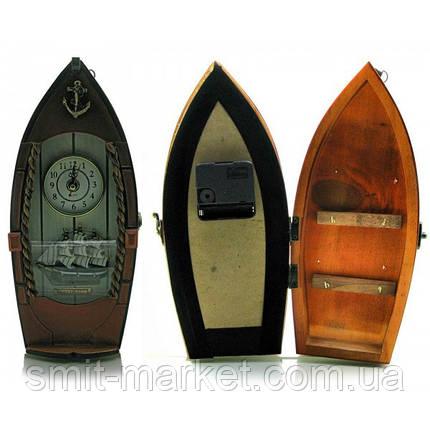 "Ключница с часами ""Лодка"" (29х14х8 см), фото 2"