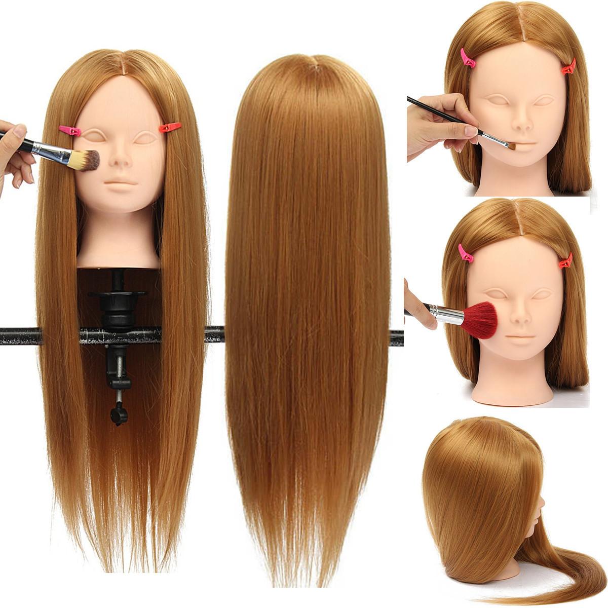 26 Длинный Волосы Тренировочный Манекен-Голова Модель ВолосыОформление Макияж Практика с держателем Зажим - 1TopShop