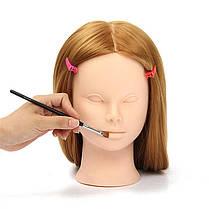 26 Длинный Волосы Тренировочный Манекен-Голова Модель ВолосыОформление Макияж Практика с держателем Зажим - 1TopShop, фото 2