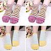 Дамы Пять пальцев ног Носки Простой модный хлопковый полосатый 4-параный набор для лодыжки для ног Носки - 1TopShop, фото 3