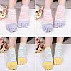 Дамы Пять пальцев ног Носки Простой модный хлопковый полосатый 4-параный набор для лодыжки для ног Носки - 1TopShop, фото 4