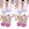 Дамы Пять пальцев ног Носки Простой модный хлопковый полосатый 4-параный набор для лодыжки для ног Носки - 1TopShop, фото 5