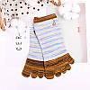 Дамы Пять пальцев ног Носки Простой модный хлопковый полосатый 4-параный набор для лодыжки для ног Носки - 1TopShop, фото 6