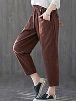 Женское сплошной цвет гарема с высокой эластичной талией Брюки - 1TopShop, фото 2