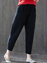 Женское сплошной цвет гарема с высокой эластичной талией Брюки - 1TopShop, фото 3