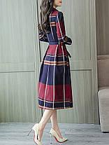Женский Причинный Aline Платье Плед с отложным воротником и высокой талией Платье - 1TopShop, фото 3