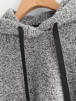 Повседневный Женское Твердый цвет флис с капюшоном с длинным рукавом - 1TopShop, фото 2