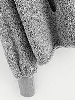 Повседневный Женское Твердый цвет флис с капюшоном с длинным рукавом - 1TopShop, фото 3