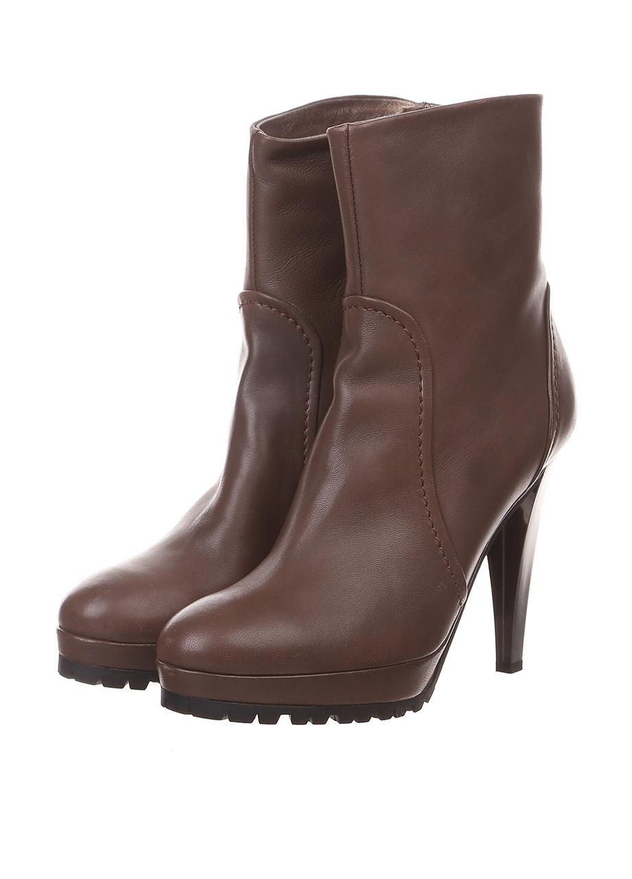 (Уценка) Ботинки женские MaxMara цвет коричневый размер 40 арт (УЦ)45295273