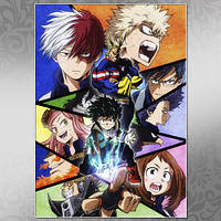 Плакат Аниме Boku no Hero Academia 021