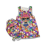 Комплект платье и рюкзак lol