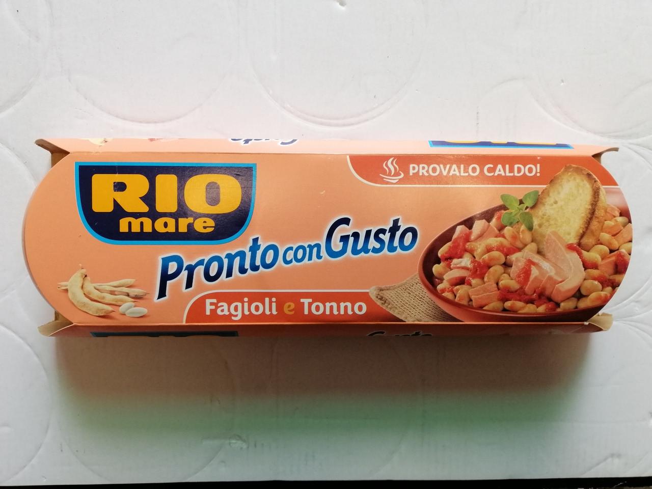 Тунец Rio Mare ProntoConGusto с томатом и фасолью Fagioli e Tonno, 3х160 г.