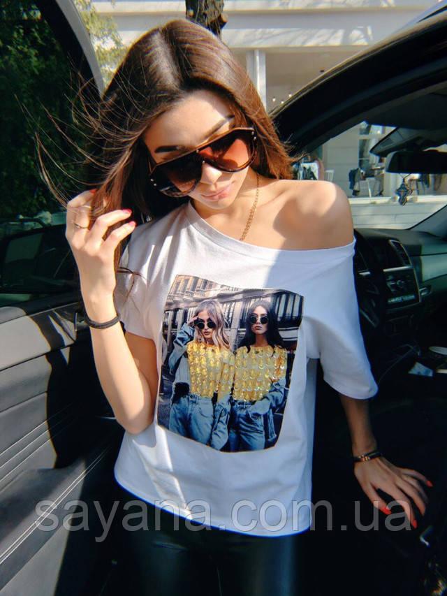 футболка женская с принтом