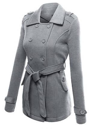 Женские однотонные пальто с длинными рукавами и блендами - 1TopShop, фото 2