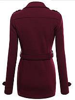 Женские однотонные пальто с длинными рукавами и блендами - 1TopShop, фото 3