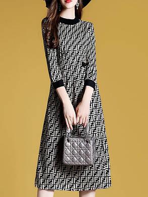 Женская повседневная одежда O Шея Three Quarters Тонкий Сплит Fashion Платье - 1TopShop, фото 2