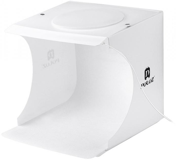 Лайткуб (фотобокс) для предметной съемки Puluz PU5022 24 x 23 x 22 см + 2 LED панели Белый