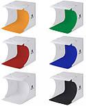 Лайткуб (фотобокс) для предметной съемки Puluz PU5022 24 x 23 x 22 см + 2 LED панели Белый, фото 4