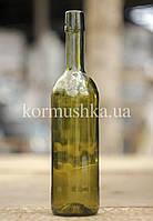 Винная бутылка 0,75 л (зеленое стекло) под бугельную пробку