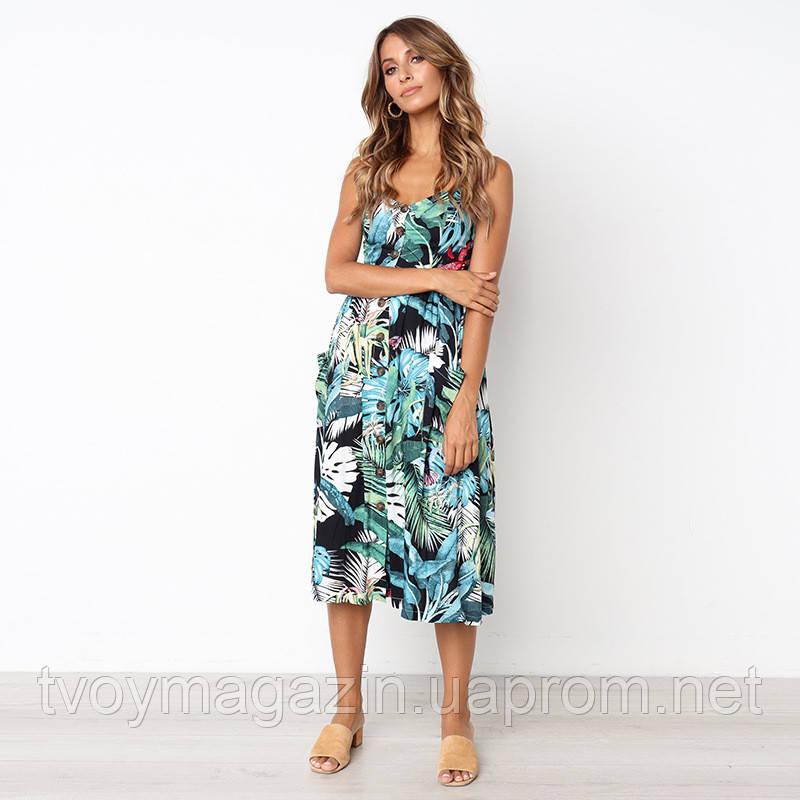 Зеленое платье сарафан миди 2019 Зелена сукня сарафан міді 2019