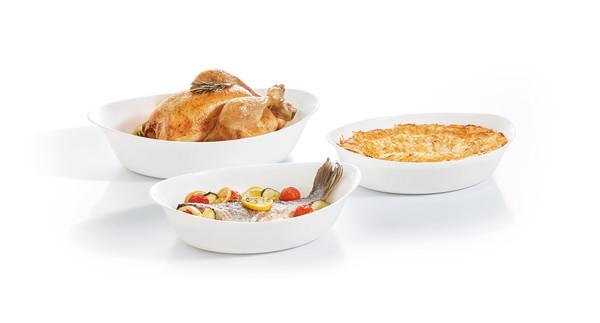 Smart Cuisine Набор форм д.запек/овал 29см/32см/38 см Luminarc P0691