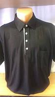 Мужская футболка-поло на пуговицах новинка этого сезона с накладным карманом на груди