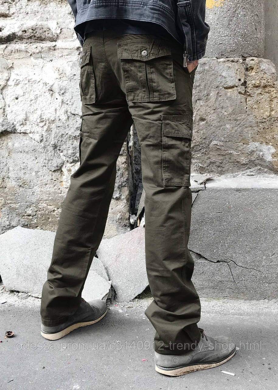 Джинсы карго карманы мужские