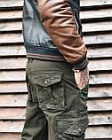 Джинсы карго карманы мужские , фото 5