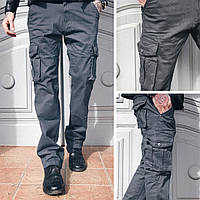 Джинсы карго карманы мужские батал , фото 1